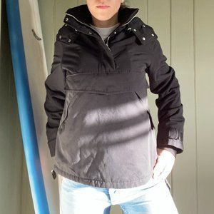 Black Overhead Winter Jacket